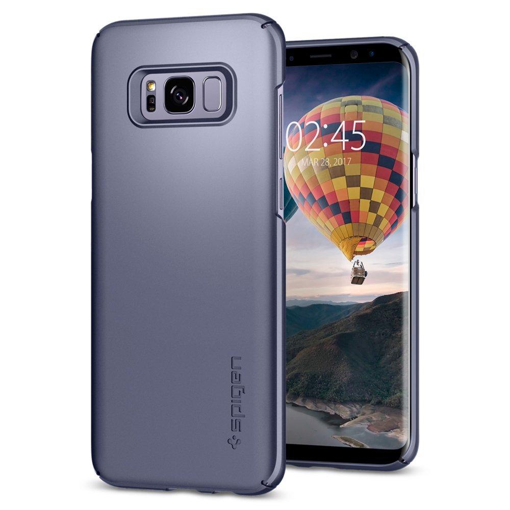 Spigen Θήκη Thin Fit Samsung Galaxy S8 - Grey Orchid (565CS21623)