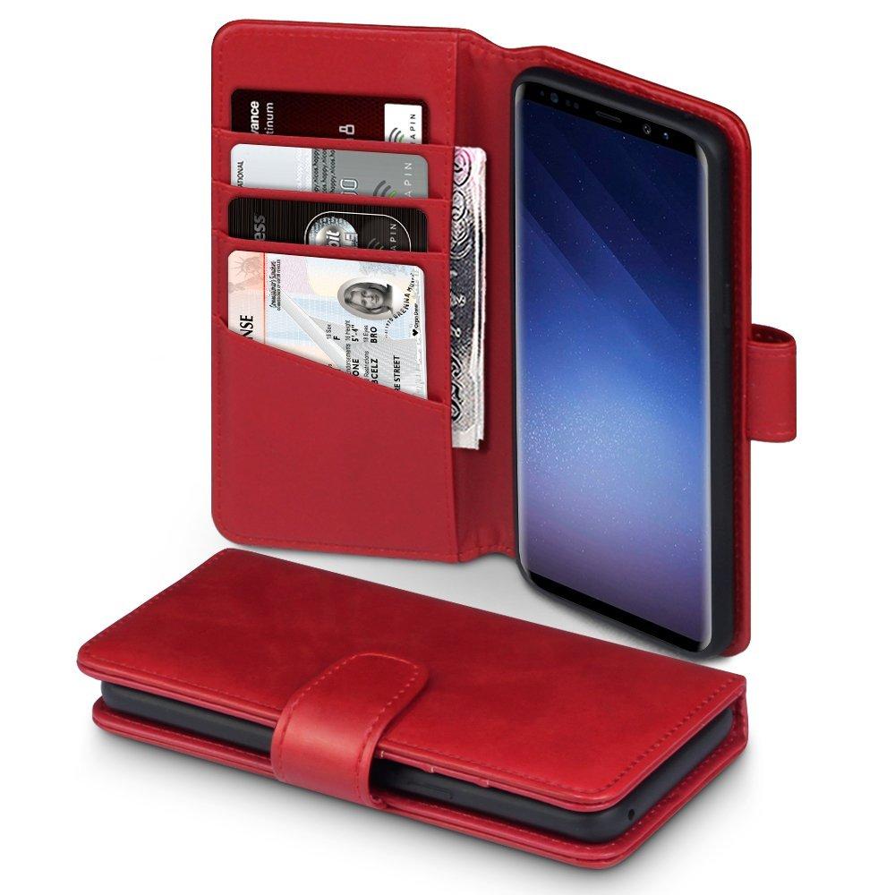 Terrapin Δερμάτινη Θήκη - Πορτοφόλι Samsung Galaxy S9 - Red (117-002a-027)