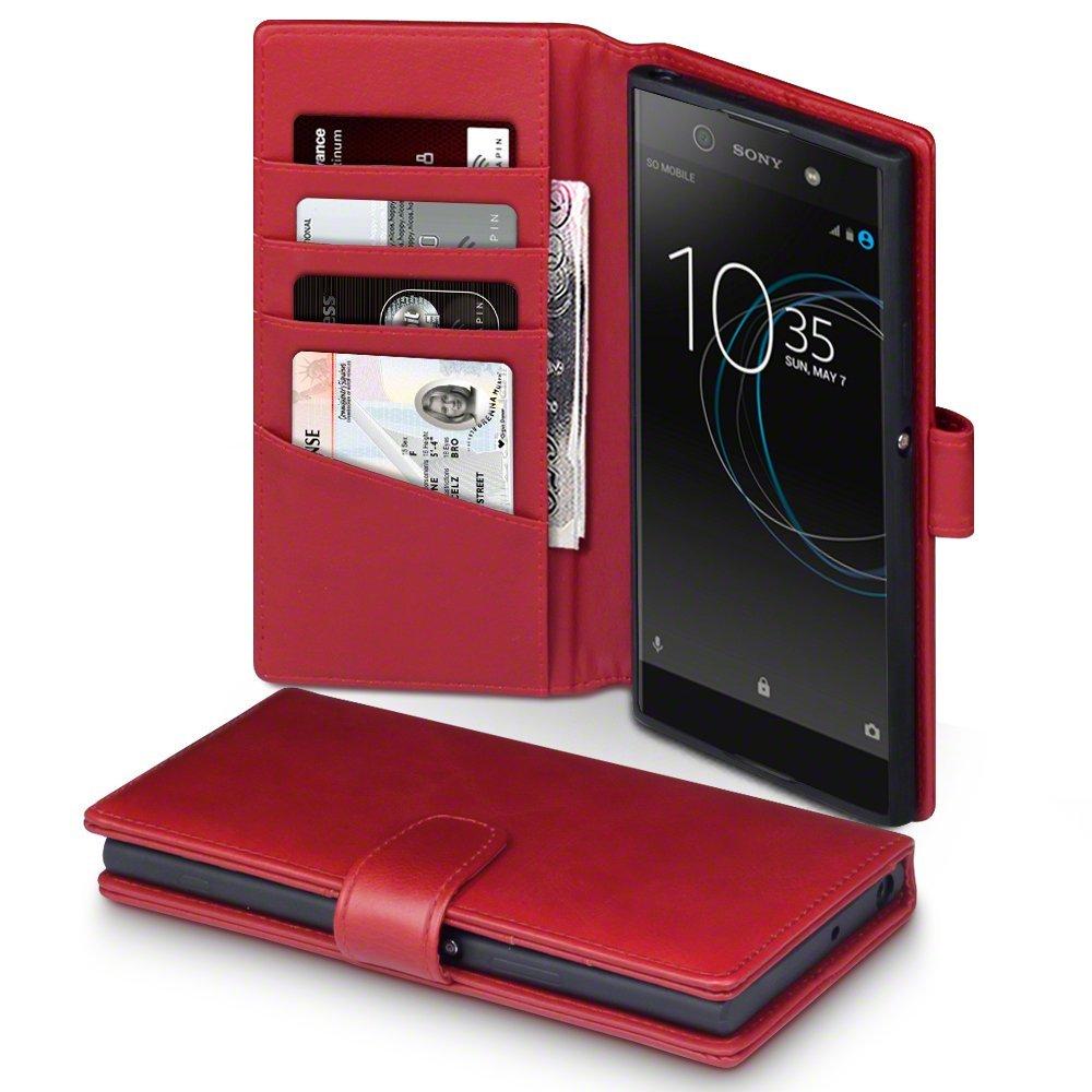 Terrapin Δερμάτινη Θήκη Πορτοφόλι Sony Xperia XA1 Ultra - Red (117-005-530)