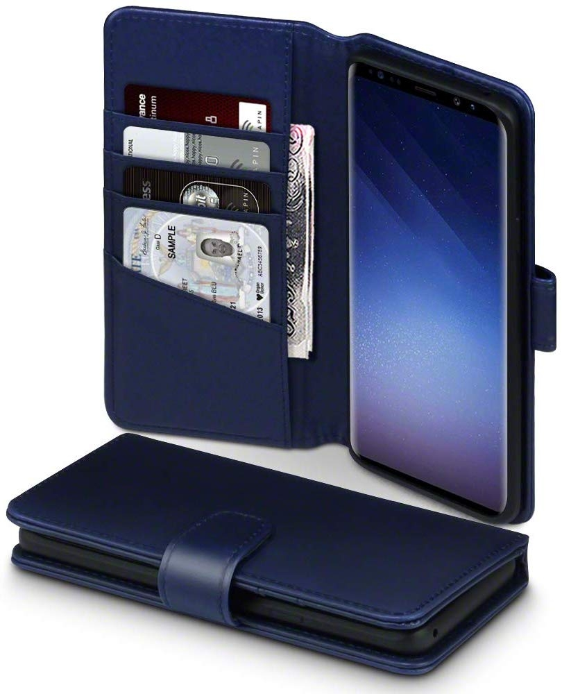 Terrapin Δερμάτινη Θήκη - Πορτοφόλι Samsung Galaxy S9 Plus - Blue (117-002a-197)