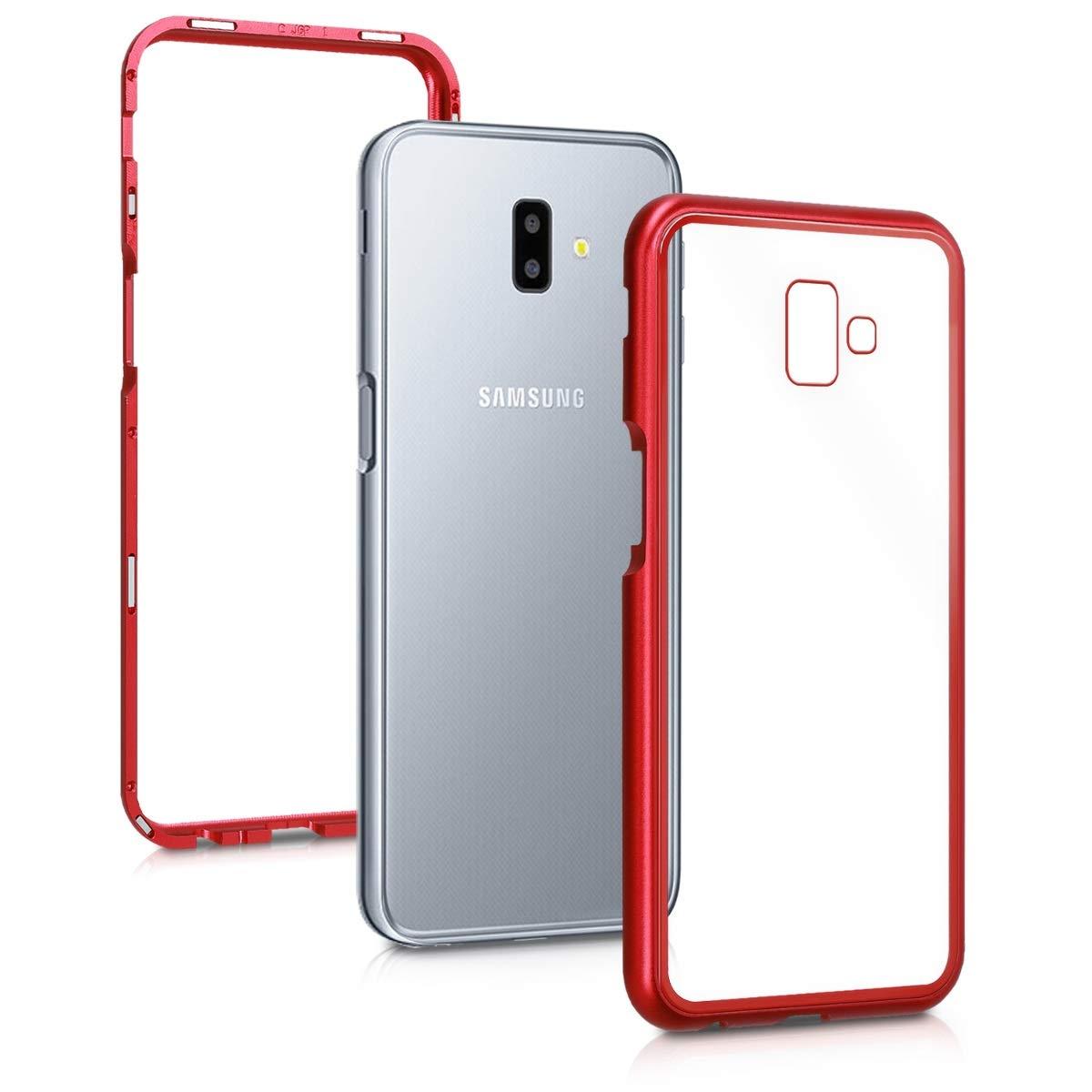 Kalibri Θήκη Full Body Samsung Galaxy J6+ / J6 Plus DUOS - Red / Transparent (47611.09)