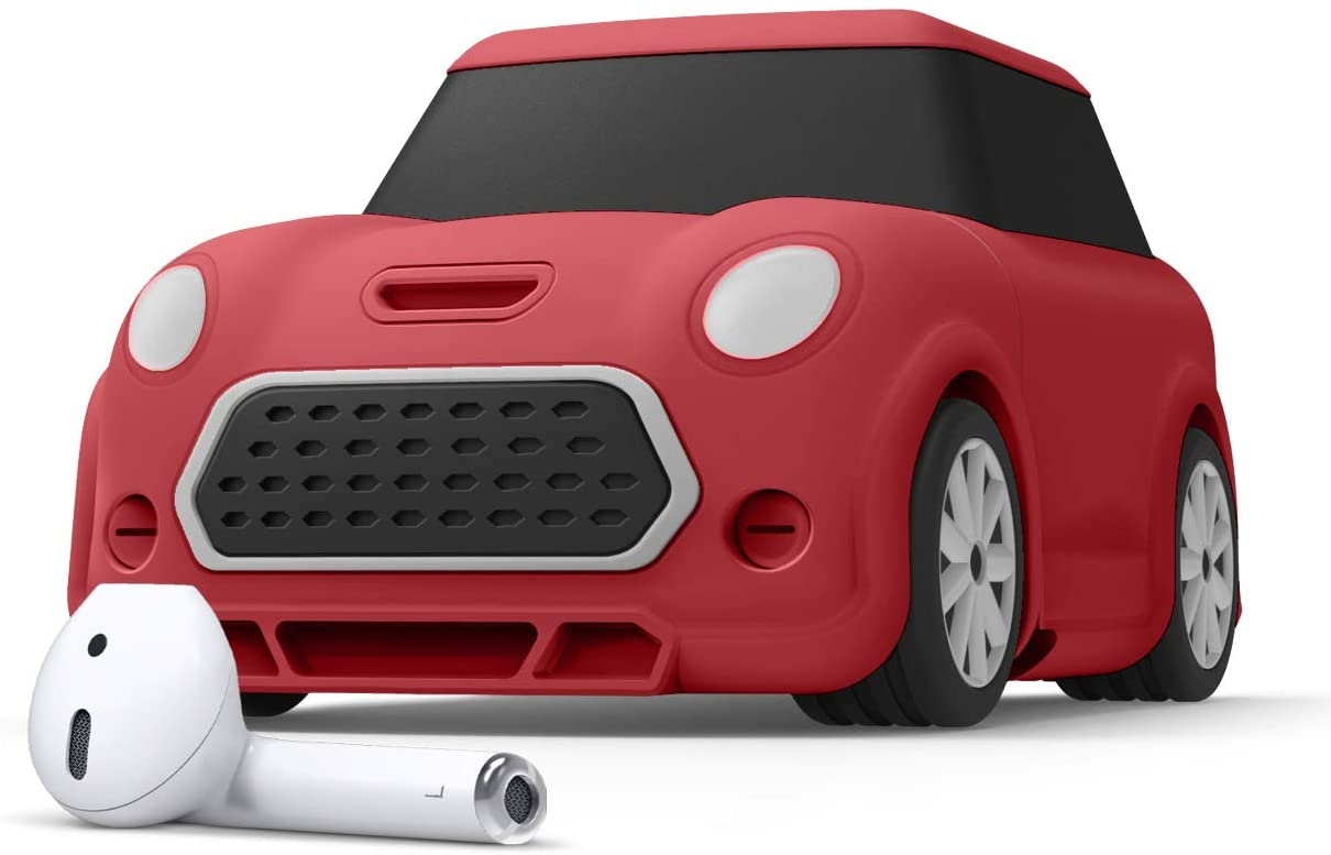 Elago AirPods Mini Car Case - Θήκη Σιλικόνης για AirPods 2nd Gen / 1st Gen - Red (EAP-MINICAR-RD)