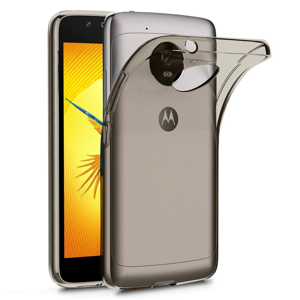 Terrapin Ημιδιάφανη Θήκη Σιλικόνης Motorola Moto G5 - Smoke Black (118-003-029)