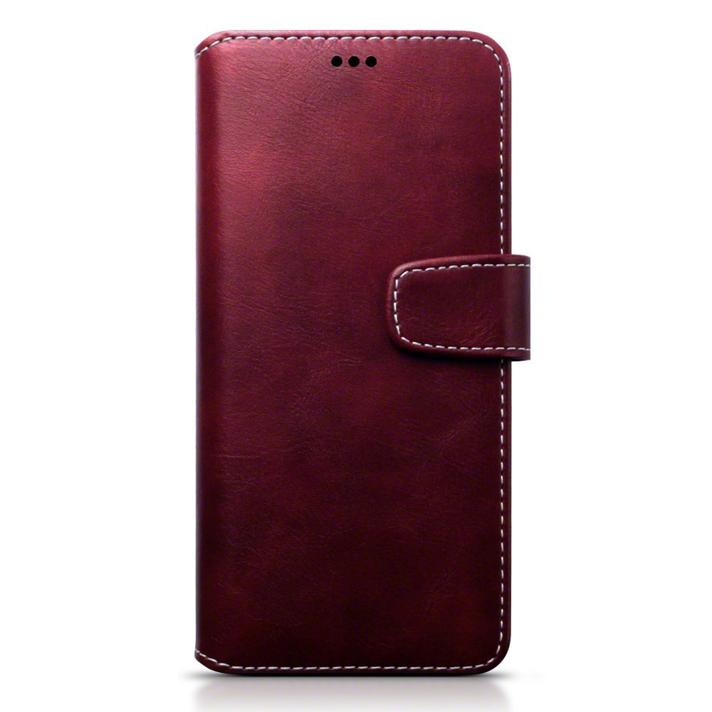 Terrapin Θήκη - Πορτοφόλι Samsung Galaxy S8 Plus - Red with White Stitching (117-002-963)