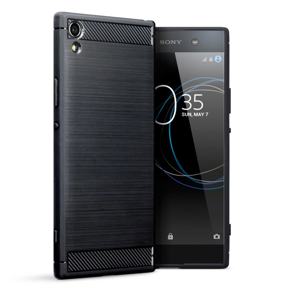 Terrapin Θήκη Σιλικόνης Carbon Fibre Design Sony Xperia XA1 Ultra - Black (118-005-382)
