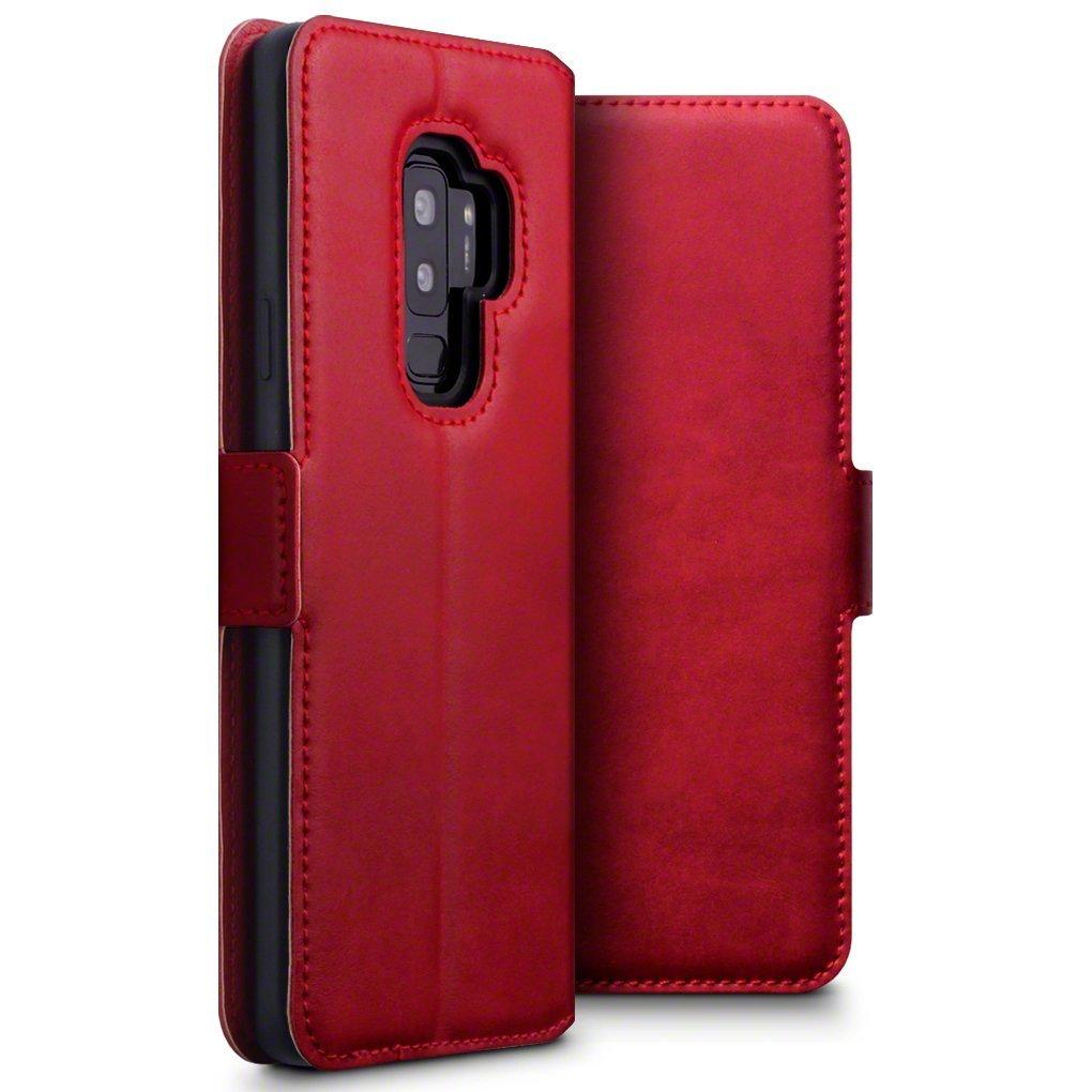 Terrapin Low Profile Δερμάτινη Θήκη - Πορτοφόλι Samsung Galaxy S9 Plus - Red (117-002a-050)