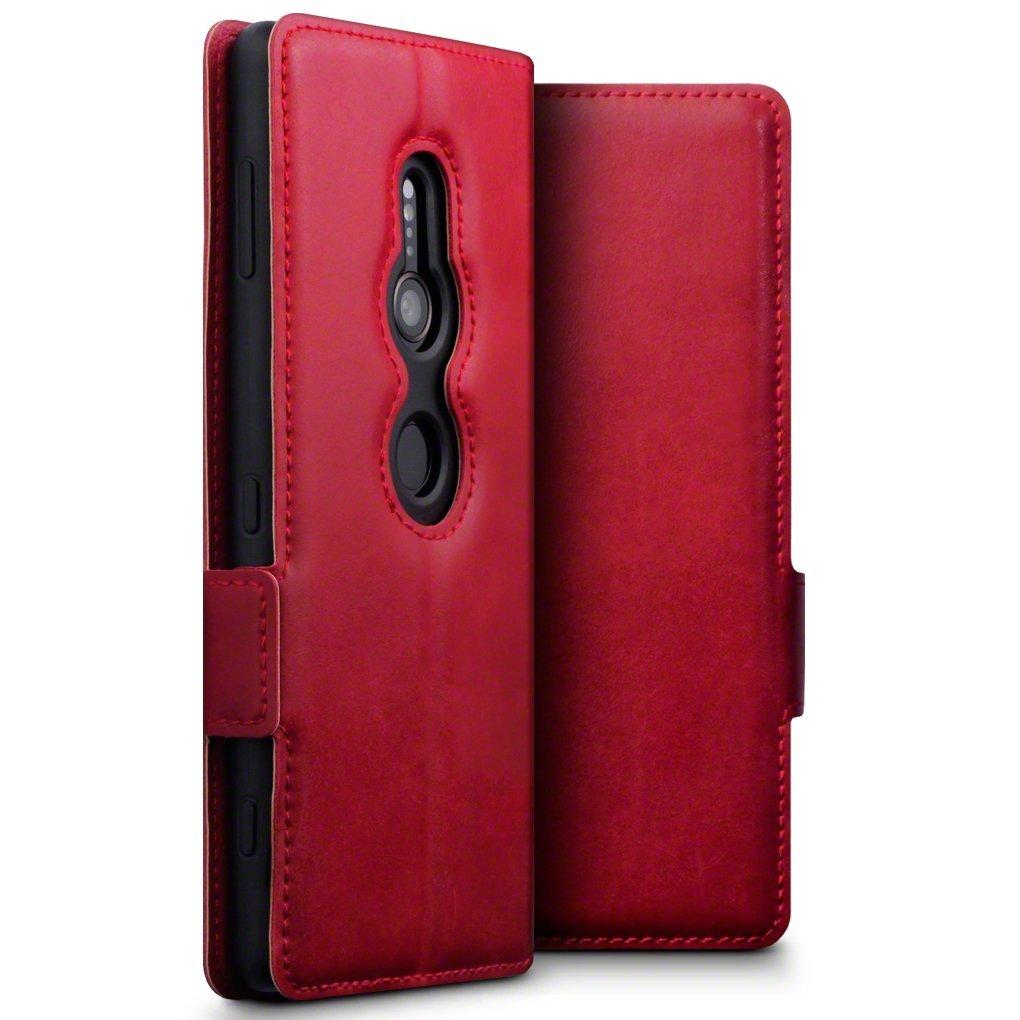 Terrapin Low Profile Δερμάτινη Θήκη - Πορτοφόλι Sony Xperia XZ2 - Red (117-005-612)