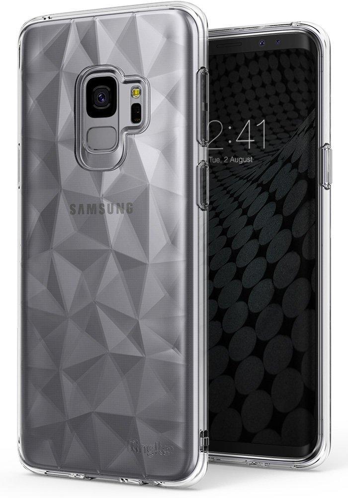 Ringke (Air) Διάφανη Θήκη Σιλικόνης Galaxy S9 με Ανάγλυφο Σχέδιο-Clear (12559)