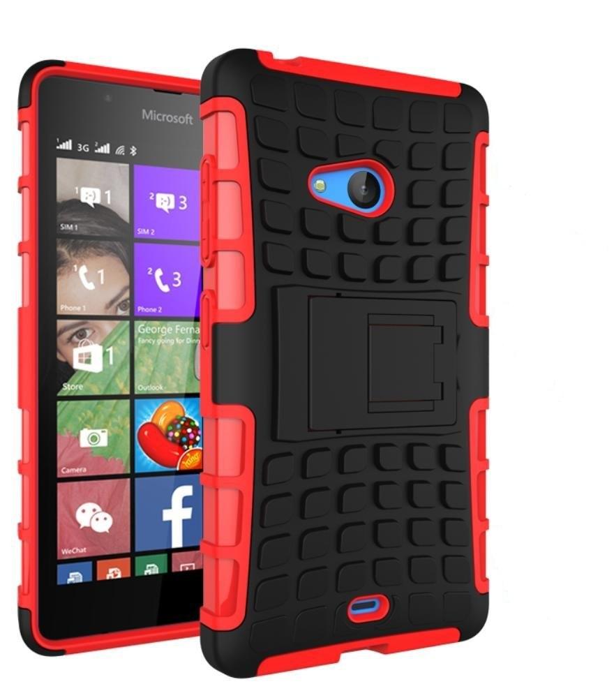 Ανθεκτική Θήκη Microsoft Lumia 540 - Κόκκινο - OEM (10732)