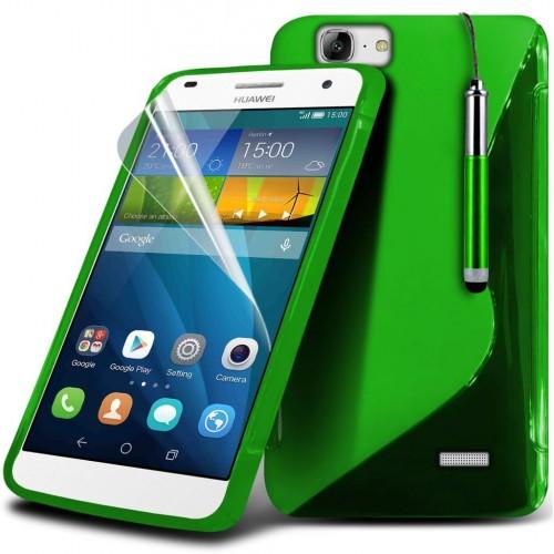 Θήκη Σιλικόνης S-line Huawei Ascend G7 Πράσινο - OEM (10759)