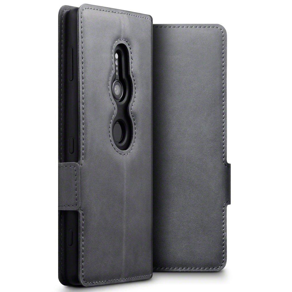 Terrapin Low Profile Δερμάτινη Θήκη - Πορτοφόλι Sony Xperia XZ2 - Grey (117-005-611)