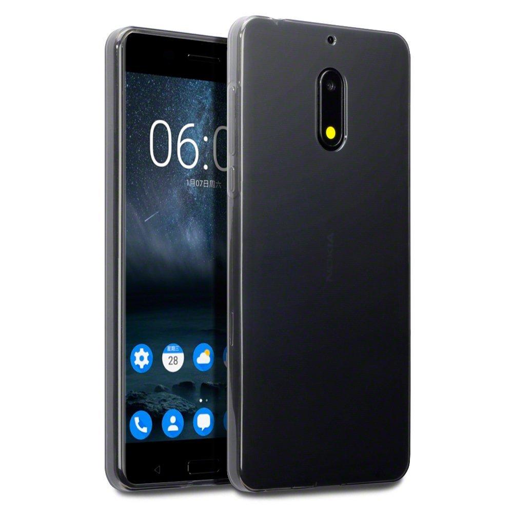 Terrapin Ημιδιάφανη Θήκη Σιλικόνης Nokia 6 - Smoke Black (118-001-228)