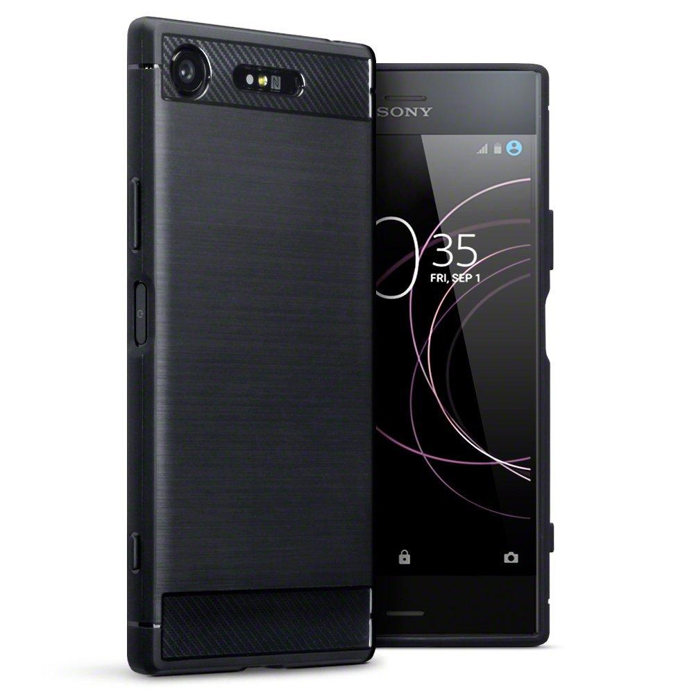 Terrapin Θήκη Σιλικόνης Carbon Fibre Design Sony Xperia XZ1 - Black (118-005-401)