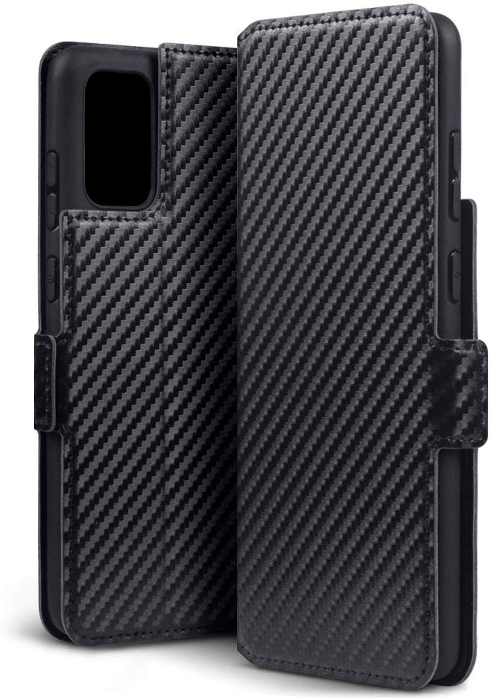 Terrapin Low Profile Θήκη - Πορτοφόλι Carbon Fibre Samsung Galaxy S20 Plus - Black (117-002a-244)