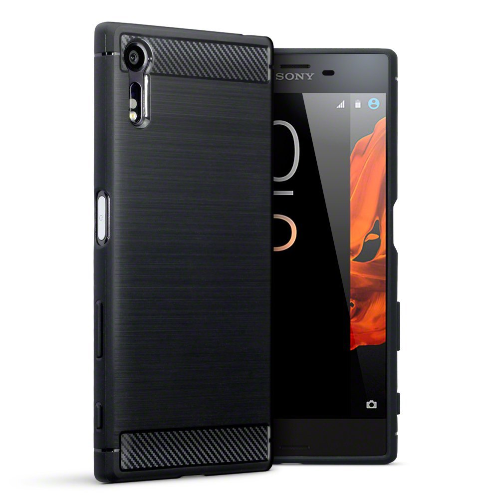 Terrapin Θήκη Σιλικόνης Carbon Fibre Design Sony Xperia XZ/XZs - Black (118-005-376)