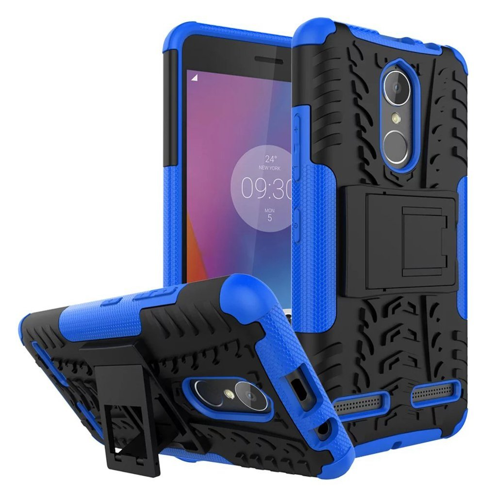 Ανθεκτική Θήκη Etui Tire Armor Lenovo K6 - Black/Blue (138621)