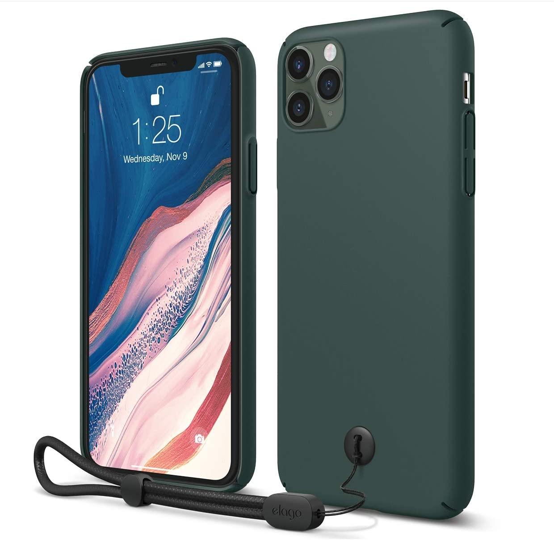 Elago SlimFit Strap - Θήκη Σιλικόνης Με Λουράκι iPhone 11 Pro Max  - Midnight Green (ES11SS65-MGR)