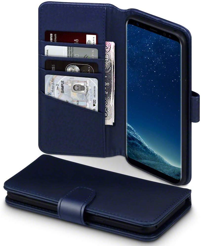 Terrapin Δερμάτινη Θήκη - Πορτοφόλι Samsung Galaxy S8 Plus - Blue (117-002a-196)