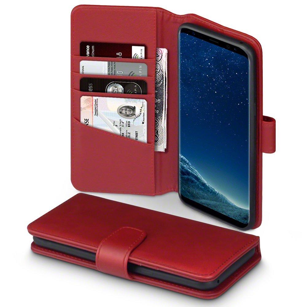 Terrapin Δερμάτινη Θήκη Πορτοφόλι Samsung Galaxy S8 Plus - Red (117-002-984)