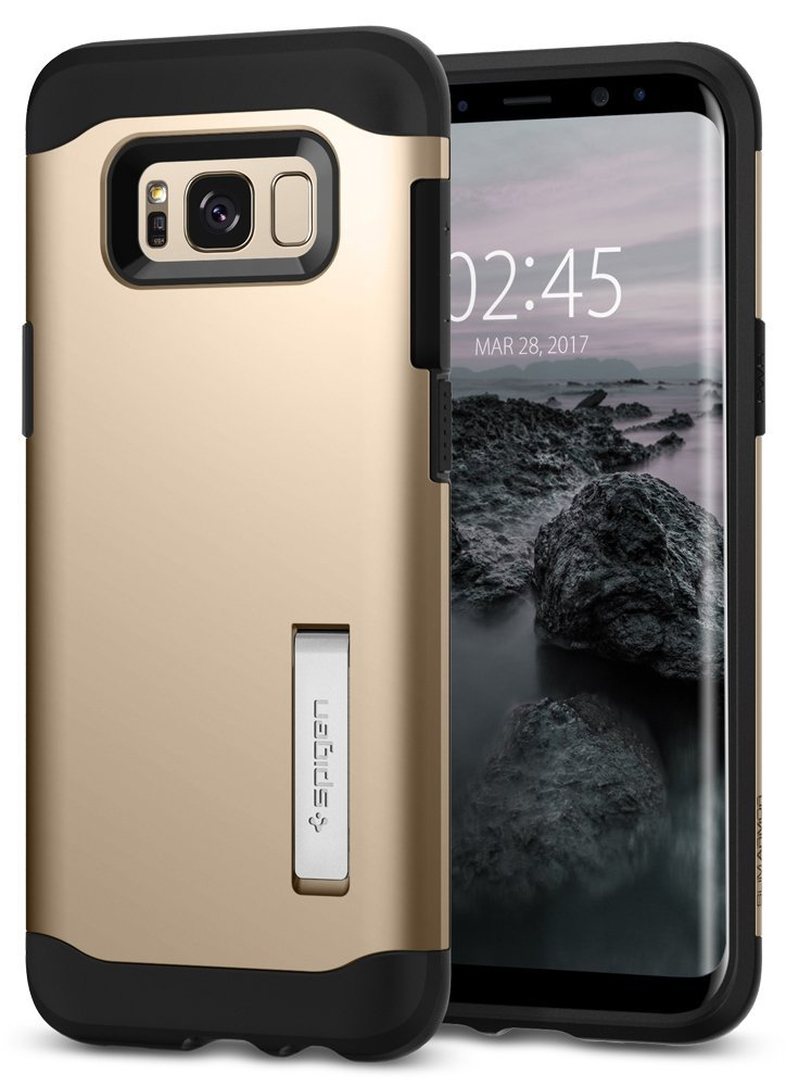 Spigen Θήκη Slim Armor Samsung Galaxy S8 - Gold Maple (565CS20832)