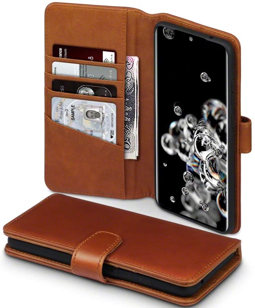 Terrapin Δερμάτινη Θήκη - Πορτοφόλι Samsung Galaxy S20 Ultra - Cognac (117-002a-247)