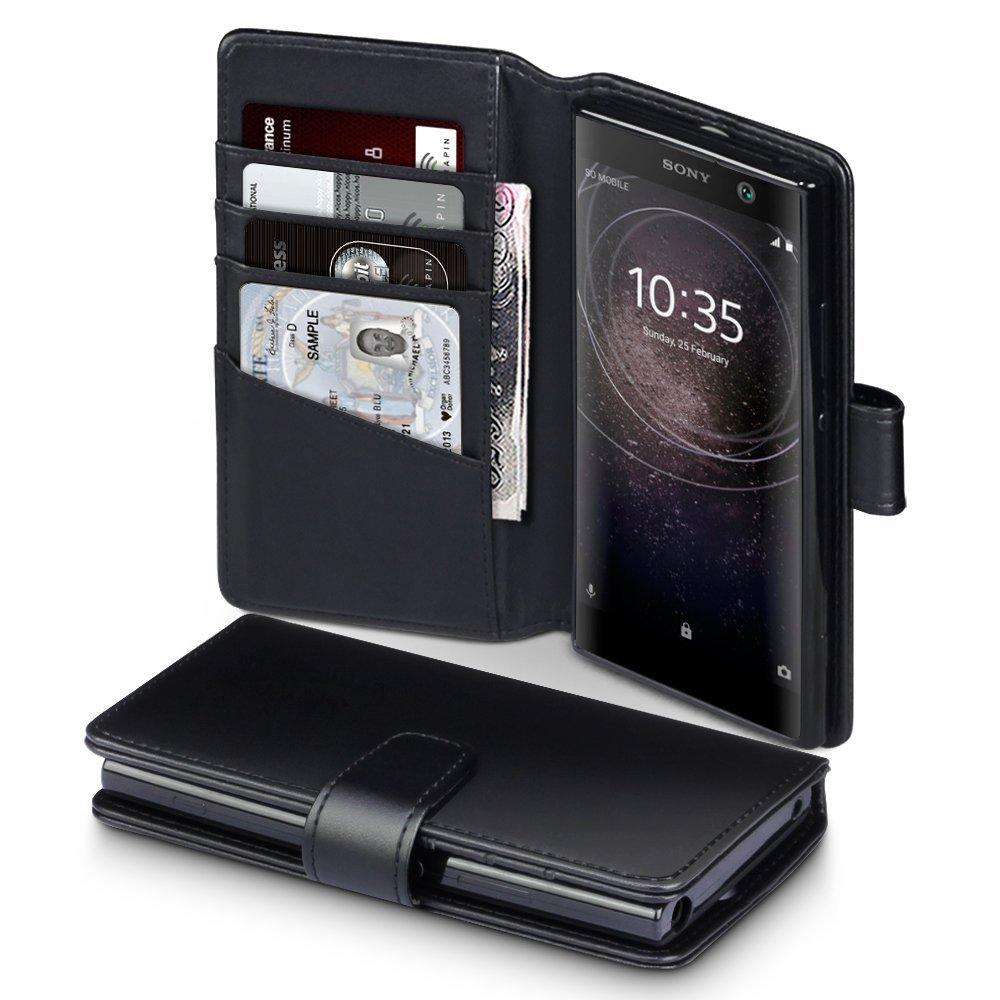 Terrapin Δερμάτινη Θήκη Πορτοφόλι Sony Xperia XA2 - Black (117-005-571)