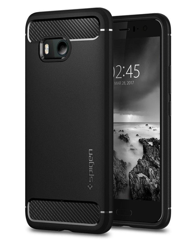 Spigen Θήκη Rugged Armor HTC U11 - Black (H11CS21938)