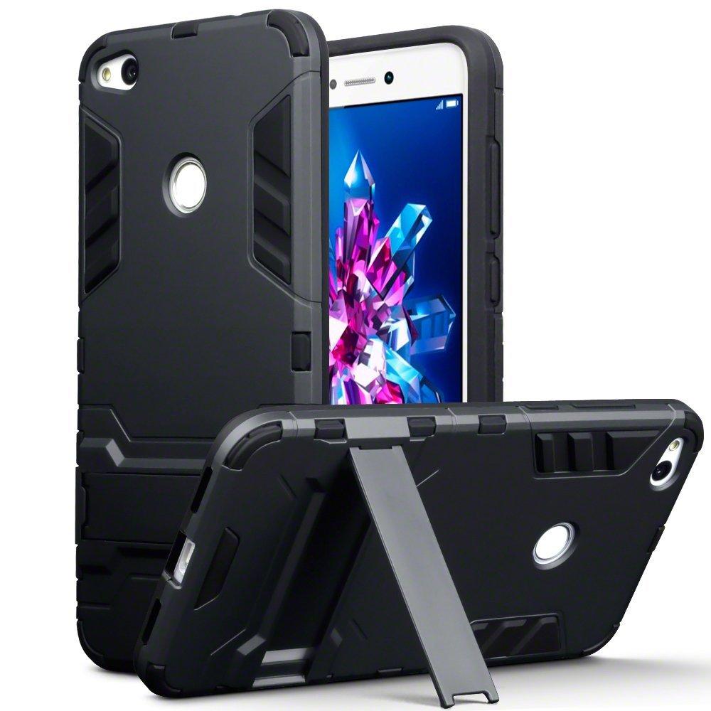 Terrapin Ανθεκτική Dual Layer Θήκη Huawei P8 / P9 Lite 2017 - Black (131-083-042)