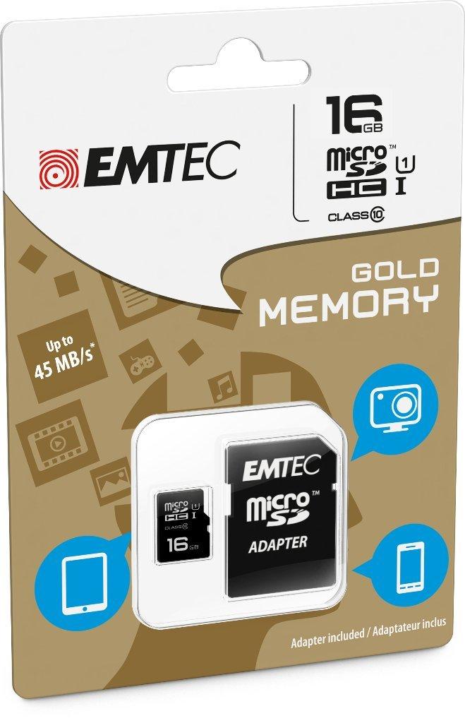 Emtec Κάρτα Μνήμης microSD 16GB Class 10 85MB/S (ECMSDM16GHC10GP)