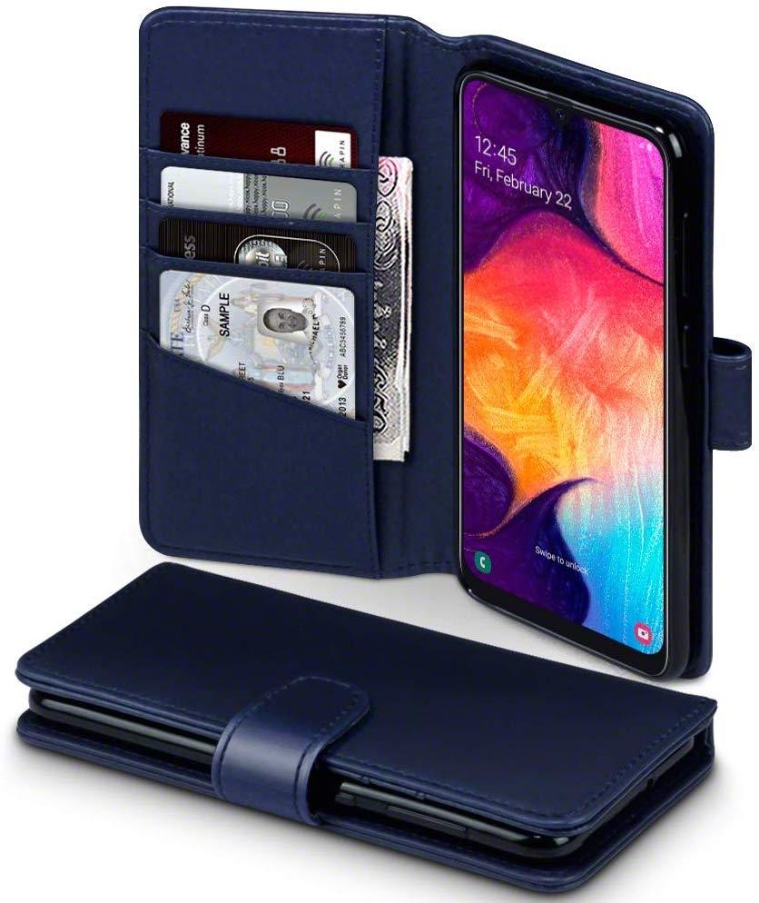 Terrapin Δερμάτινη Θήκη - Πορτοφόλι Samsung Galaxy A50 - Blue (117-002a-199)