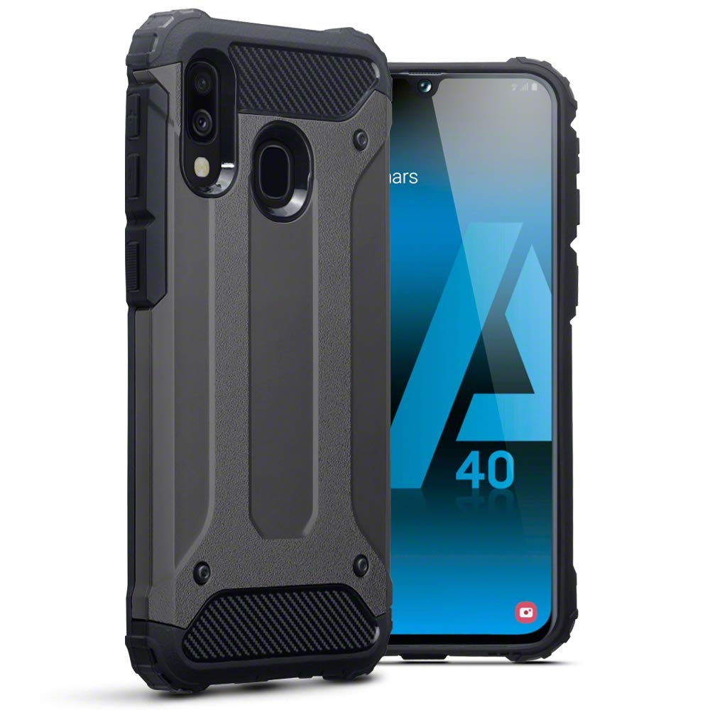 Terrapin Ανθεκτική Θήκη Double Layer Impact Samsung Galaxy A40 - Gunmetal (131-002-167)
