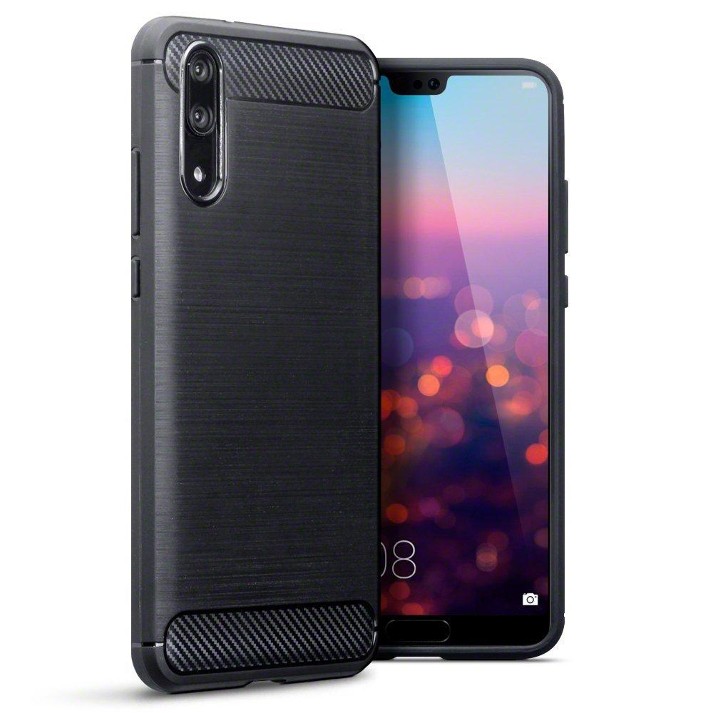 Terrapin Θήκη Σιλικόνης Carbon Fibre Design Huawei P20 - Black (118-083-153)