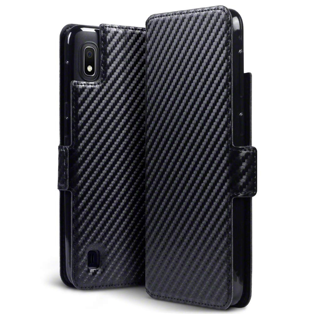 Terrapin Low Profile Θήκη - Πορτοφόλι Carbon Fibre Samsung Galaxy A10 - Black (117-002a-129)