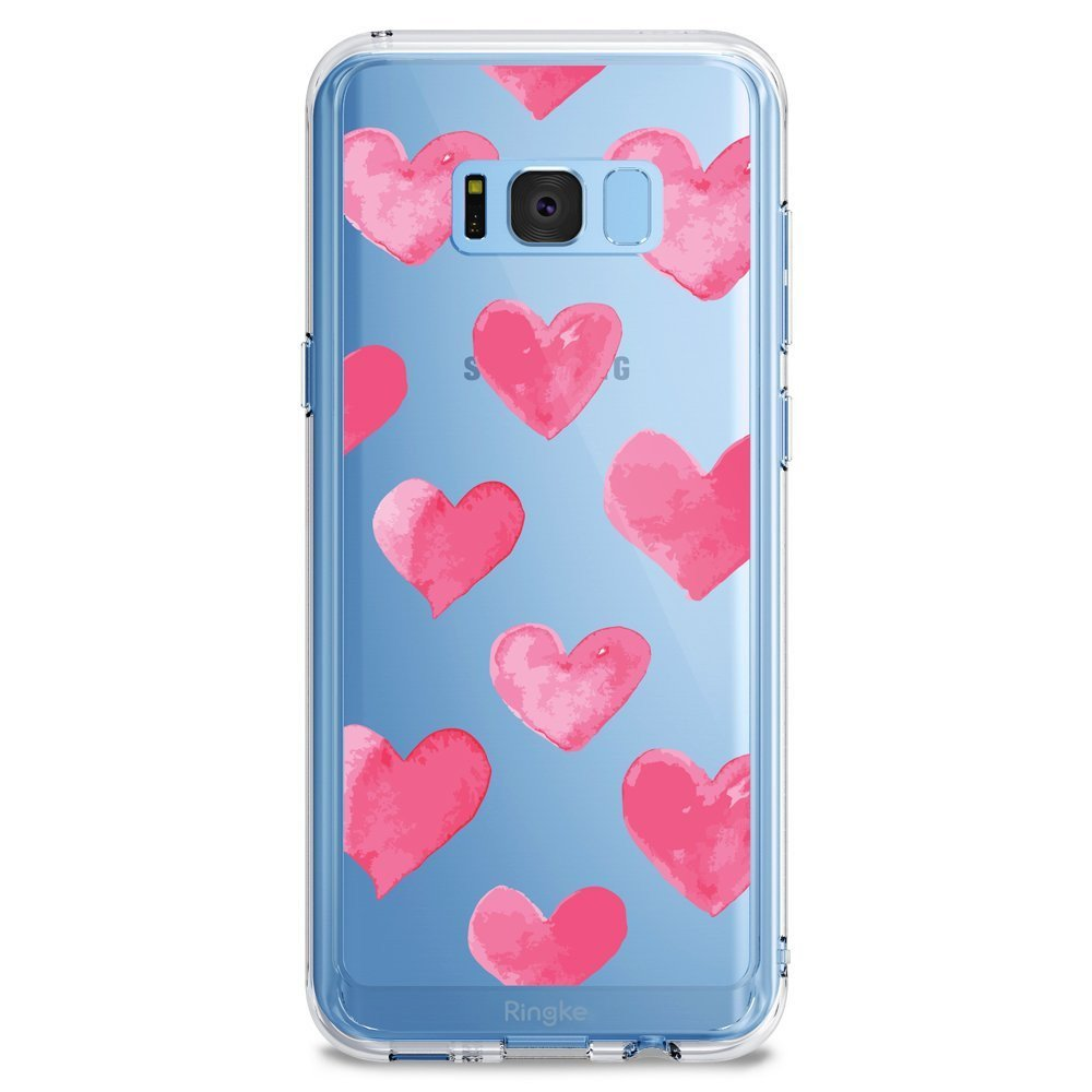 Ringke (Fusion) Διάφανη Θήκη Samsung Galaxy S8  με TPU Bumper - WaterColor Hearts (RDF-GS8-WCH)