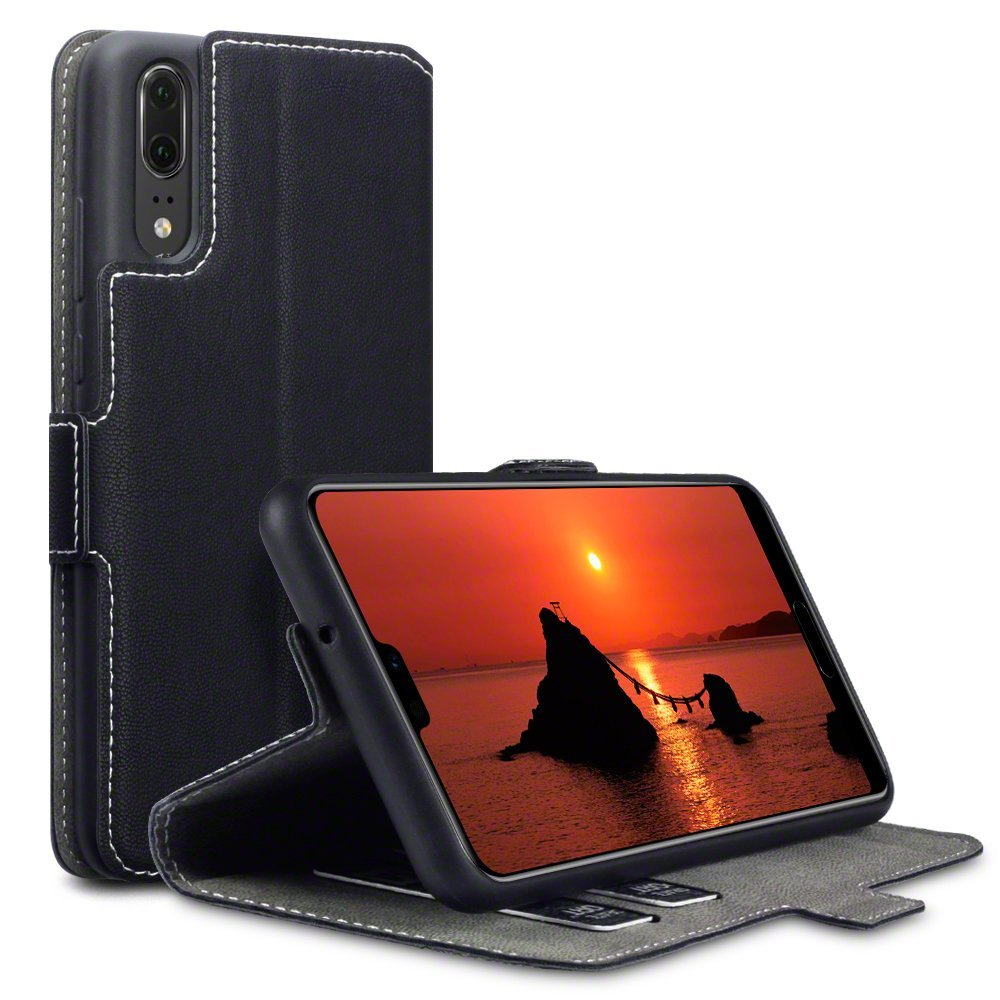 Terrapin Low Profile Thin Θήκη - Πορτοφόλι Huawei P20 - Black (117-083-172)