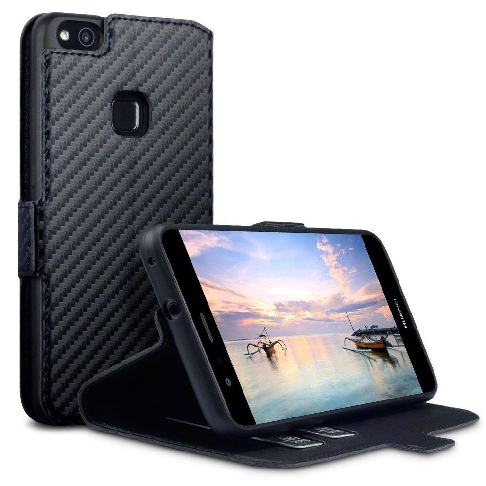 Terrapin Θήκη - Πορτοφόλι Huawei P10 Lite - Carbon Fibre Black (117-083-148)