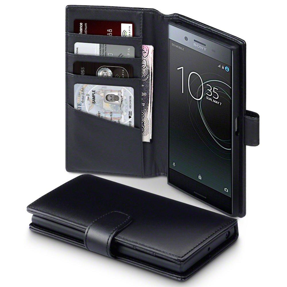 Terrapin Δερμάτινη Θήκη Πορτοφόλι Sony Xperia XZ Premium - Black (117-005-476)