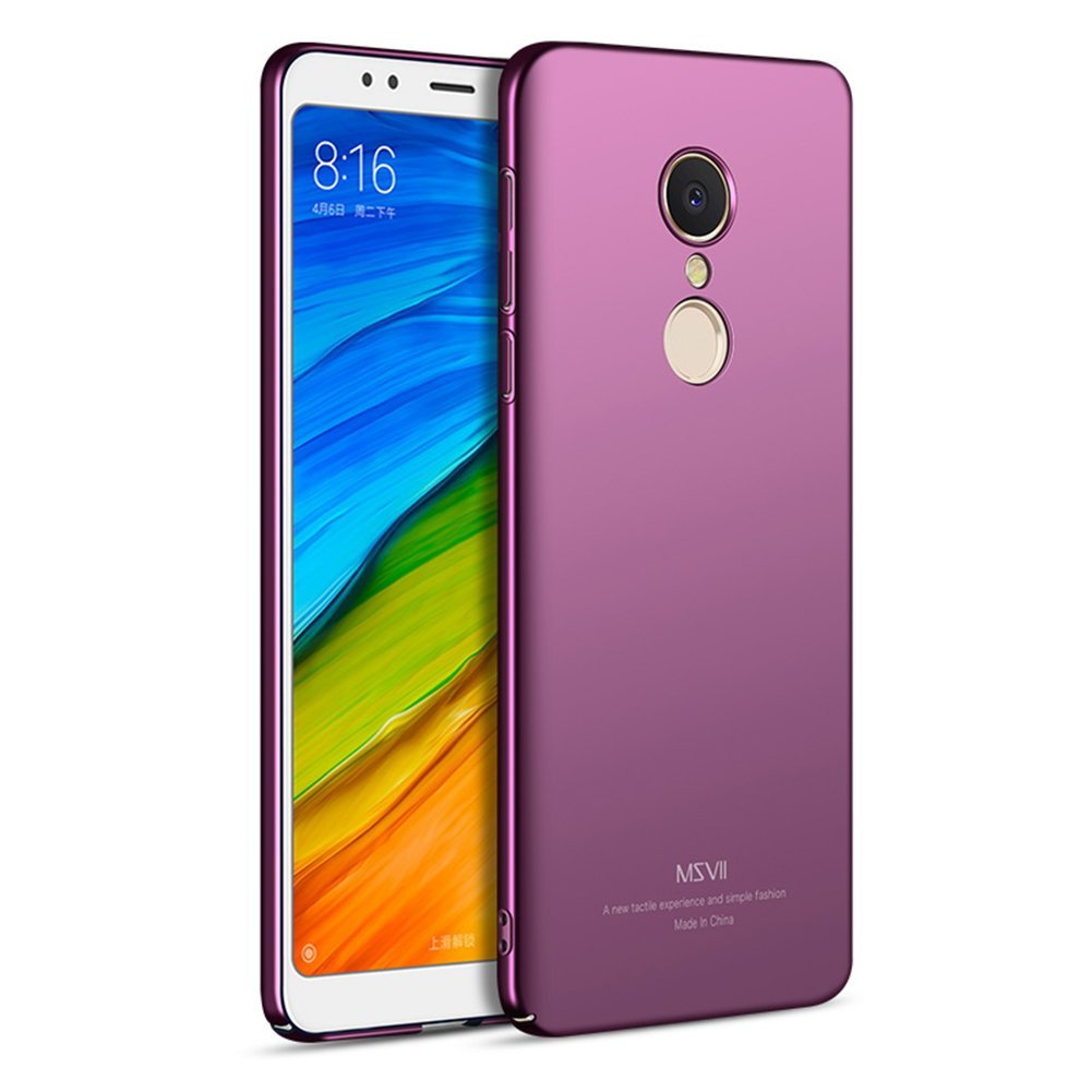MSVII Super Slim Σκληρή Θήκη PC Xiaomi Redmi 5 - Purple (U2-01a)