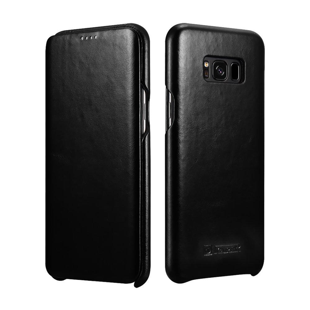 iCarer Vintage Series Side-Open Δερμάτινη Θήκη Samsung Galaxy S8 - Black (11109)