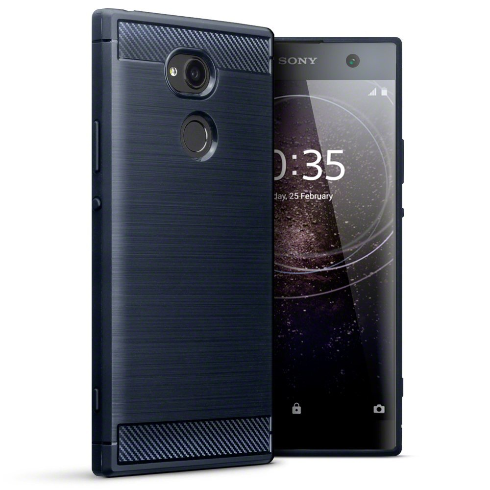 Terrapin Θήκη Σιλικόνης Carbon Fibre Design  Sony Xperia XA2 Ultra - Dark Blue(118-005-452)