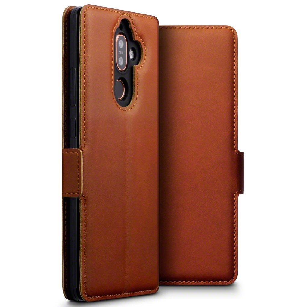 Terrapin Low Profile Δερμάτινη Θήκη - Πορτοφόλι Nokia 7 Plus - Cognac (117-001-285)