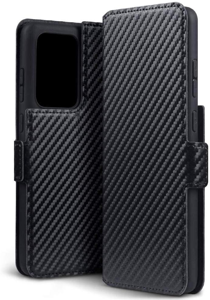 Terrapin Low Profile Θήκη - Πορτοφόλι Carbon Fibre Samsung Galaxy S20 Ultra - Black (117-002a-255)