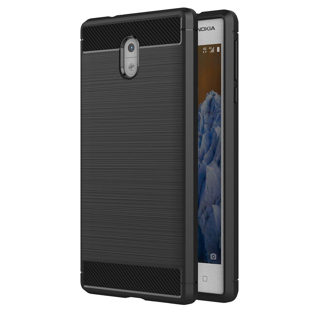 Θήκη TPU Carbon Nokia 3 - Black - OEM (11099)