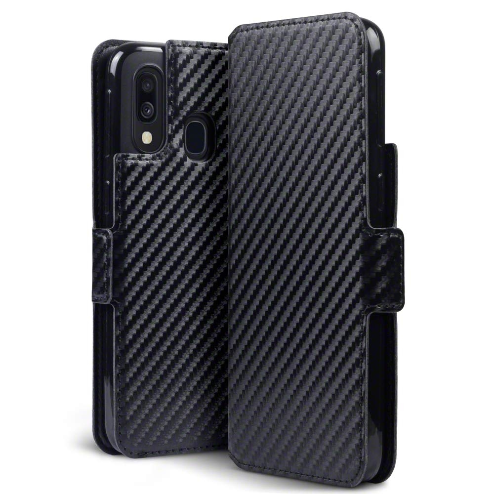 Terrapin Low Profile Θήκη - Πορτοφόλι Carbon Fibre Samsung Galaxy A40 - Black (117-002a-150)