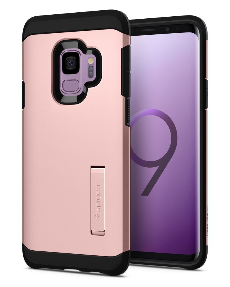 Spigen Θήκη Tough Armor Samsung Galaxy S9 - Rose Gold (592CS22847)