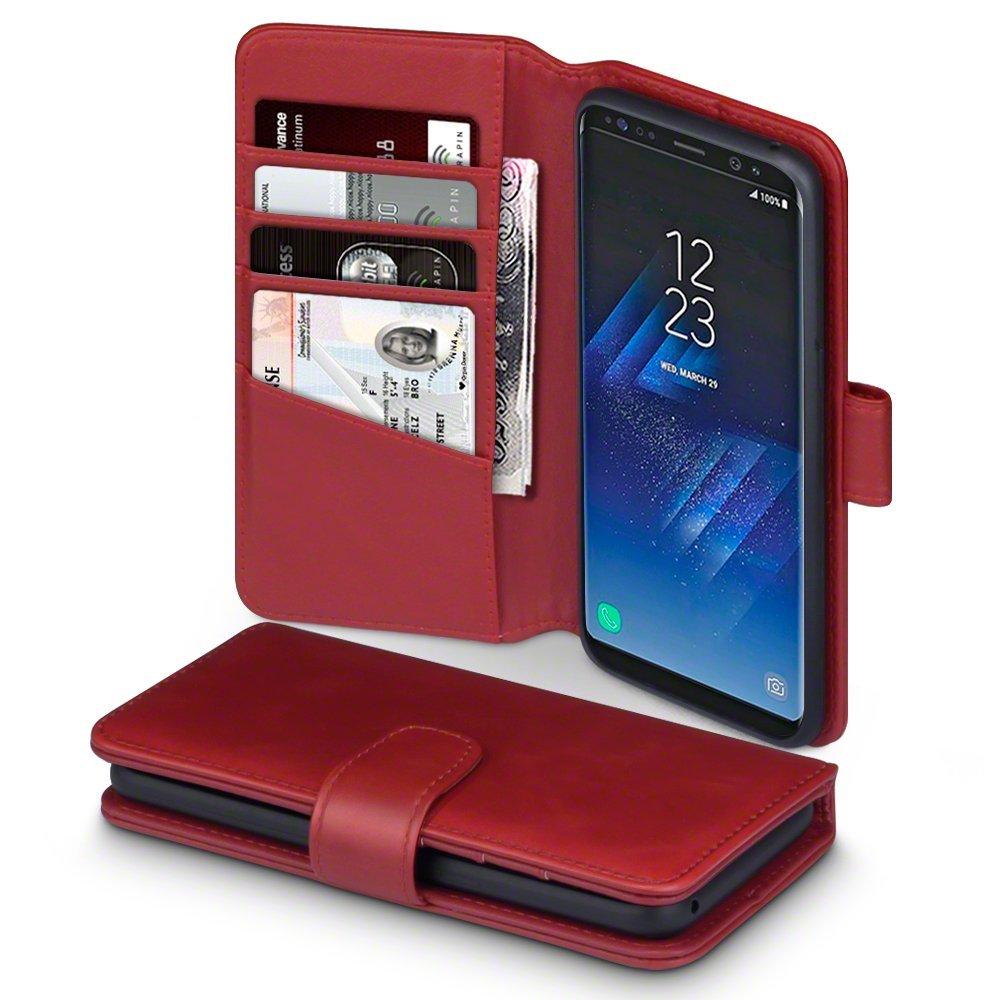 Terrapin Δερμάτινη Θήκη Πορτοφόλι Samsung Galaxy S8 - Red (117-002-981)