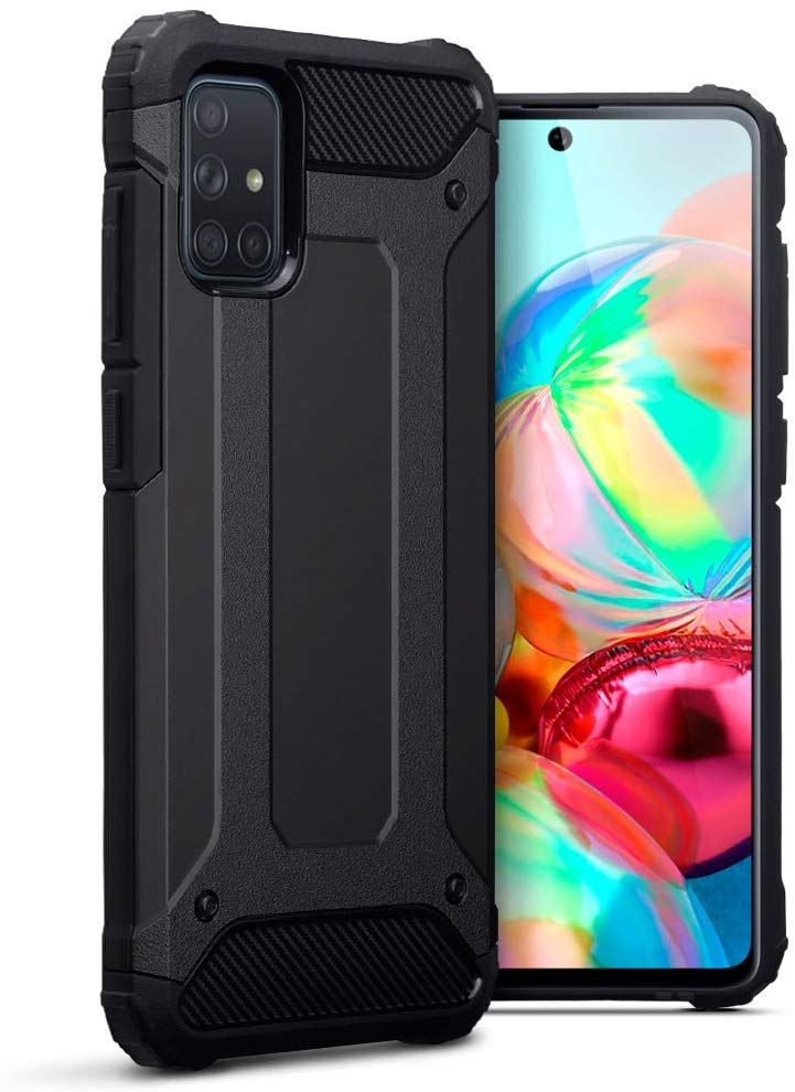 Terrapin Ανθεκτική Θήκη Double Layer Impact Samsung Galaxy A71 - Black (131-002-214)