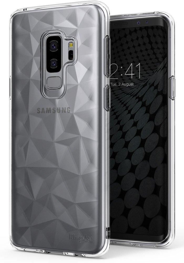 Ringke (Air) Διάφανη Θήκη Σιλικόνης Galaxy S9 Plus με Ανάγλυφο Σχέδιο-Clear (12553)
