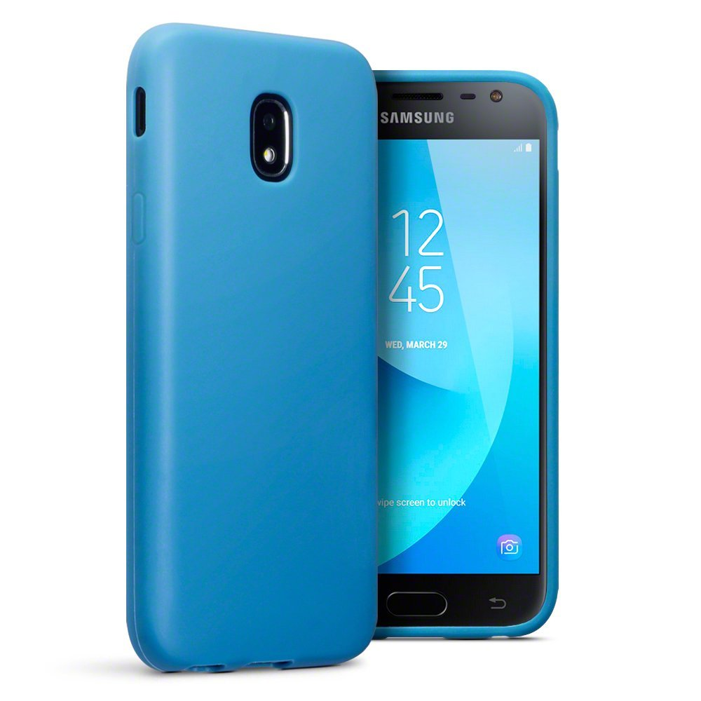 Terrapin Θήκη Σιλικόνης Samsung Galaxy J3 2017 (Version J330F)  - Light Blue Matte (118-002-651)