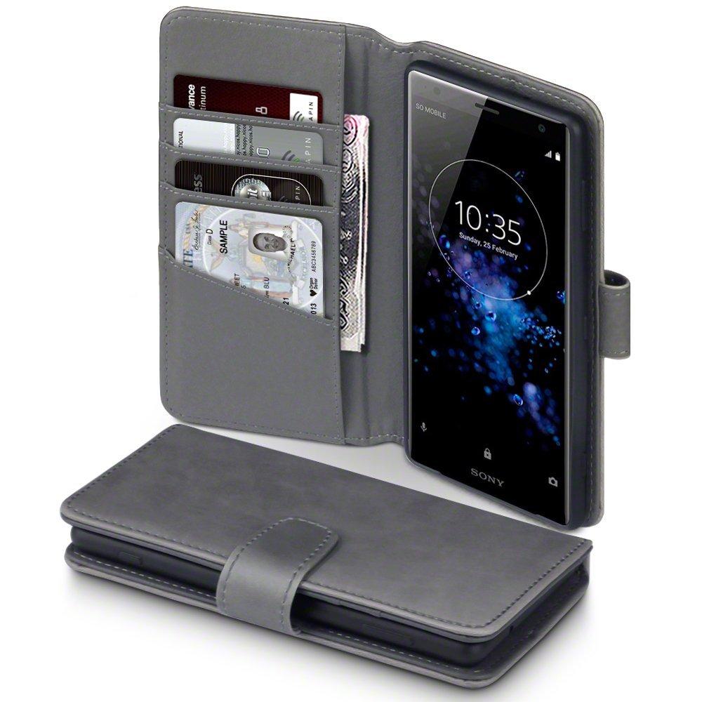 Terrapin Δερμάτινη Θήκη - Πορτοφόλι Sony Xperia XZ2 - Grey (117-005-607)